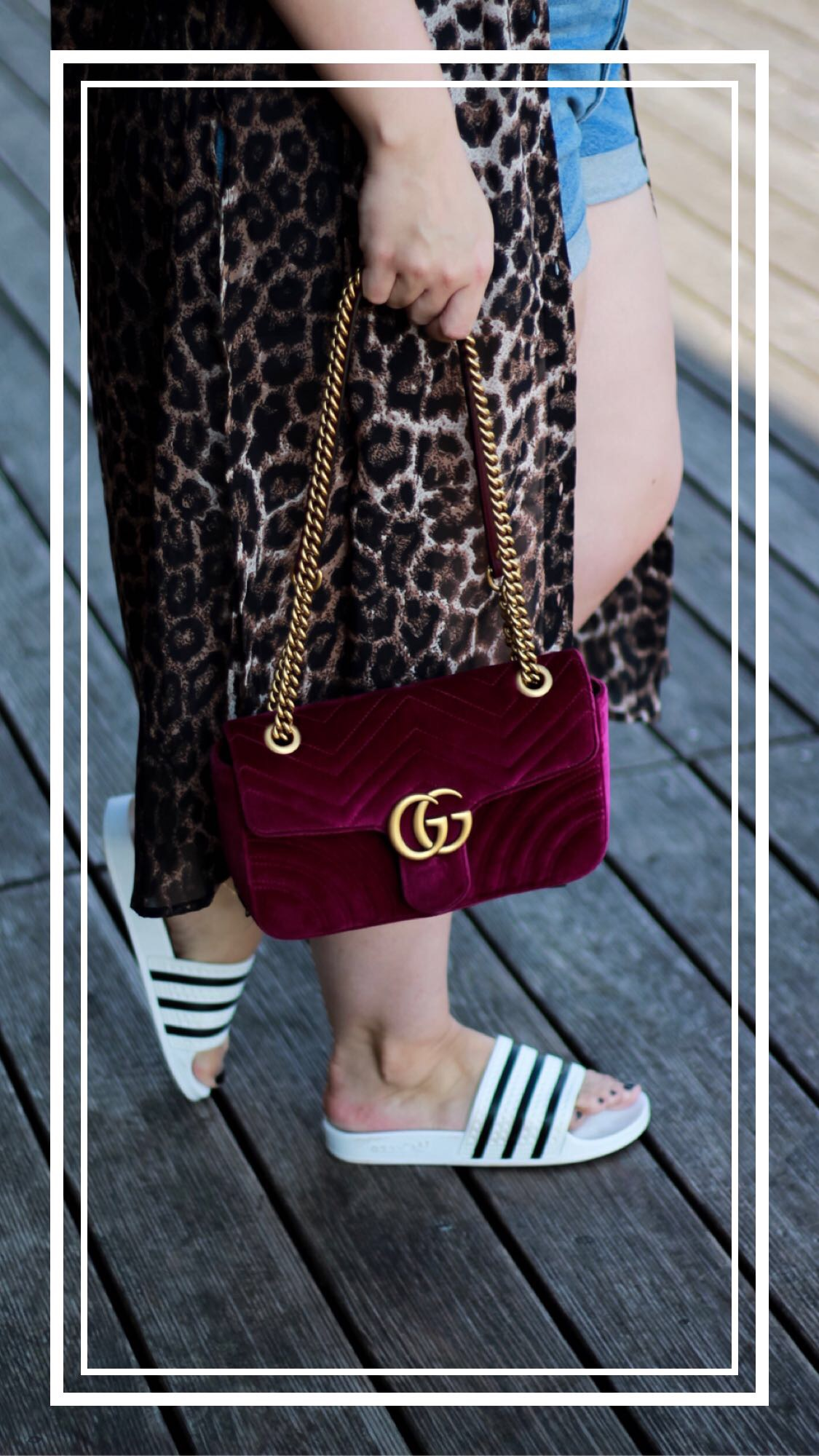 Miss-Suzie-Loves-Leopard-Print-Jeansshort-Gucci-Marmont-weisses-Top-Susanne-Heidebach-Curvyblogger