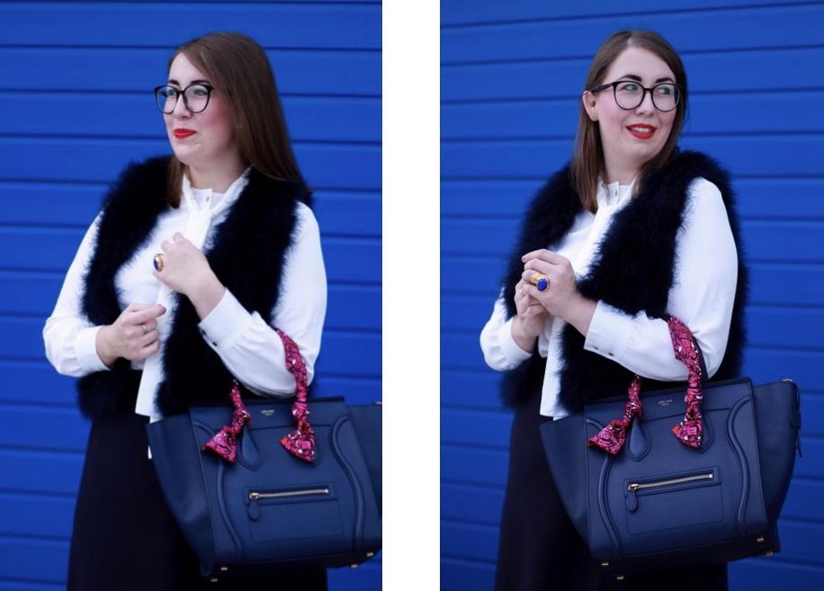 Business-Outfit-Strickrock-Feder-Weste-Celine-Luggage-Miss-Suzie-Loves-Susanne-Heidebach-All-Blue