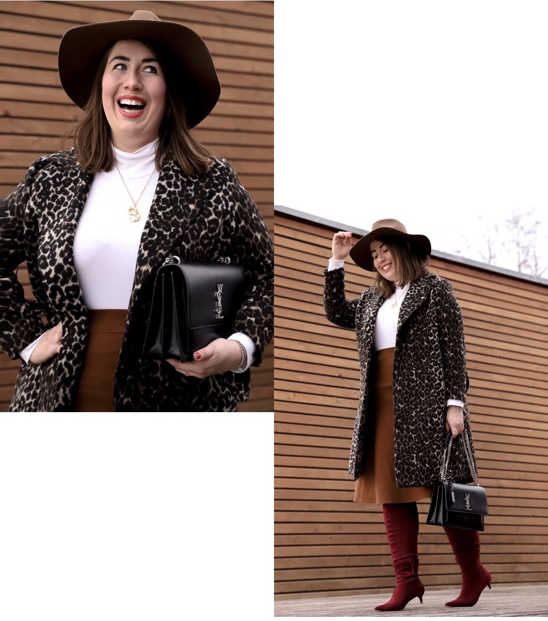 Outfit-Leomantel-Animalprint-Strickrock-YSL-Sunset-Fedora-Hut-Miss-Suzie-Loves-Susanne-Heidebach